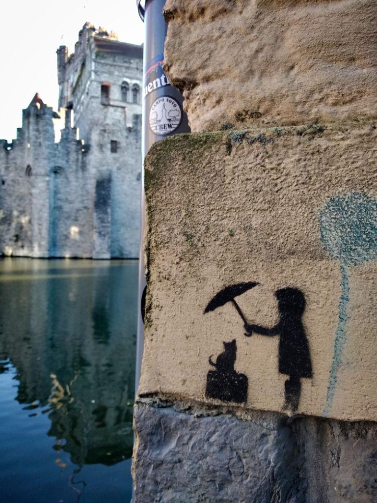 Vue insolite sur le château